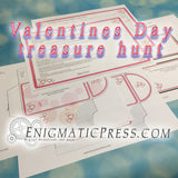 Valentines day treasure hunt, DIY editable digitale download, print at home fun!