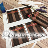 Cigar styles Happy Birthday Rolo wrapper labels, easy DIY PDF, fit 1.7 oz (48g) instant digital download home printable