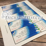 Christmas style Custom event style tickets, DIY editable PDF Home printable, Digital download