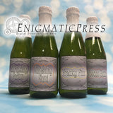 Mini Halloween Champagne bottle labels, fit 8.4oz 250ml, instant download, home printable PDF