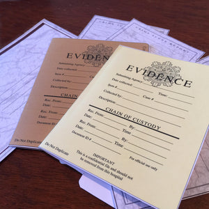 Chain of evidence, greeting cards, pdf digital download, home printable file