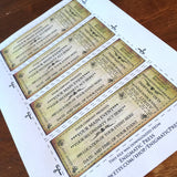 4 DIY Custom theater style event tickets, editable PDF, digital download, aged and b/w