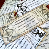 4 Custom event, vintage style invitation, tickets, fake editable pass, digital download,