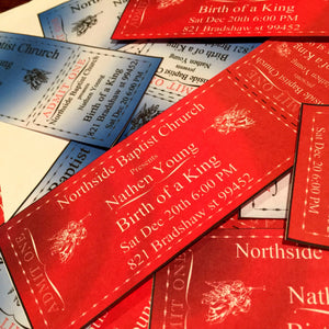 Custom event, Christmas style tickets, editable invitations, digital download, print at home PDF