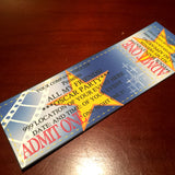 Hollywood movie style tickets, editable invitations blue custom event pass, digital download,