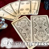 52 card Tarot set, Minor Arcana, black and white deck, Coins, Cups, Swords, and Spades, home printable, digital download,