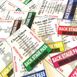 9 easy editable Back Stage, Badge Buddy passes with guitars, home printable, digital download