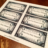 6 Silver editable coupons, digital download, home printable PDF