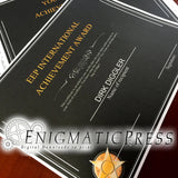 Black Elegant award, editable certificate, Home printable PDF, digital download