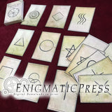 32 aged Zener cards, poker size memory / ESP  game, full deck, home printable, diy digital download