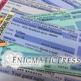 5 Editable Airline Boarding Passes, DIY invitation tickets, digital PDF download, Home printable party favors