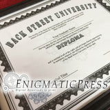 Back Street University Diploma style certificate, with editable text, Home printable, digital download