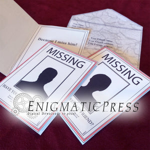 Missing person, Milk carton style Missing Friend all occasion cards, editable pdf, digital download, home printable