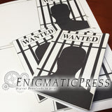 Wanted style invitation set, with insert invite card, editable PDF, home printable, digital download