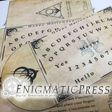 Ouija style envelope, gift card, treat Bag, easy DIY home printable PDF, digital download