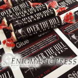 Over The Hill Smarties candy wrapper labels, easy fun diy, home printable PDF, digital download