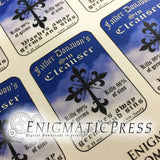 Father Donavon's Sin-cleanser, Hand sanitizer color Labels, fits 3fl oz, 89 ml size bottle, fun digital download, home printable labels