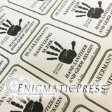 Editable Hand Sanitizer Labels, fits 2fl oz, 59.2 ml size bottle, fun PDF digital download, DIY home printable