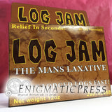 Log Jam Laxative Fake brand medication, funny DIY gift box, party favor, digital download, home printable