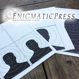 Paper Man Silhouette Targets, Tent Fold Decor, Set of 3 Home printable PDF digital download