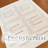 Editable Doc, Nurse Style Place Display Cards, DIY Party Decor PDF, instant, digital download, home printable.