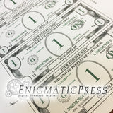 Fake Money, 2 color bills, front and backs included, Editable PDF digital download home printable
