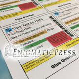 Editable pharmacy styles Lifesavers labels easy DIY PDF, instant digital download print at home
