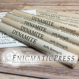 Dynamite sticks and C-4 Prop Demolition labels, styles DIY, PDF, files, digital download home printable