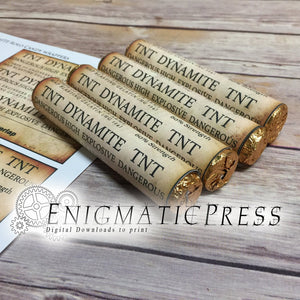 Dynamite TnT Rolo Wrappers DIY PDF, instant digital download home printable