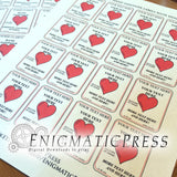 Editable Hand Sanitizer Labels with hearts, fits 3fl oz, 89 ml size bottle, fun PDF digital download, DIY home printable