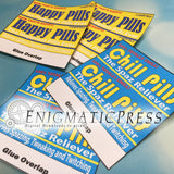 Happy Pills and Chill Pills Lifesavers labels! 6 in 1 PDF, instant digital download home printable