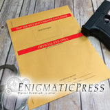 2 Top Secret Envelope Graphics For 9x12 Envelope, diy, home printable, digital download, editable PDF, and JPG, files!