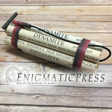 Prop Dynamite, TNT Stick labels plus igniter model, DIY, PDF, file, instant digital download home printable