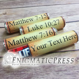 Editable Bible Scroll Lifesavers Candy wrappers, Home printable PDF Digital download file.