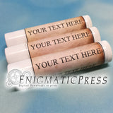 12 Editable ChapStick Labels, aged scroll style, fit 0.15 oz. (4 grams) product, DIY PDF, Home printable, digital download