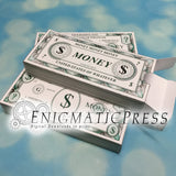 Stack of Money gift box, Editable, printable, Fun DIY PDF digital download, party favor, prop currency, Print, cut, fold, Done!