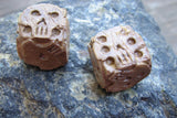 bone colored skull dice