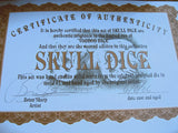certificate of authenticity for dice
