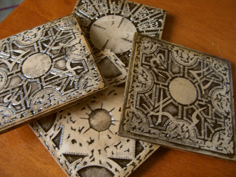 4 pack hellraiser stone cast coasters