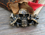 Hand cast skull and crossbones pirate pin