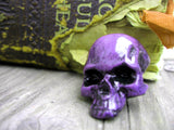 purple color skull pin