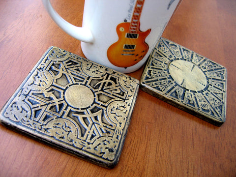 2 hellraiser stone cast coasters