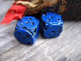 blue skull stone cast dice