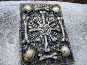 skull and bones sedlec ossuaries inspired plaque