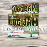 Log Jam holiday strength laxative fake brand medication, funny DIY gift box, bathroom prop, digital download, home printable