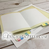 Hospital file style greeting cards, 5x7 PDF file digital download print at home