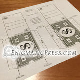 Monopoly money gift card sleeve, DIY digital download print at home