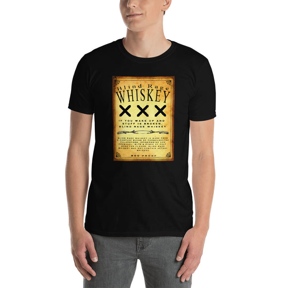 Blind Rage Whiskey Short-Sleeve Unisex T-Shirt