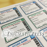 10ml Roller/lip editable prescription styles labels, easy DIY PDF, instant digital download print at home