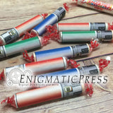Lightsaber style Smarties candy wrappers, DIY home printable PDF with editable feature, digital download